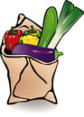 Vegetable paper bag Stock Image