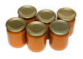 Vegetable paste in glass jars Royalty Free Stock Photography
