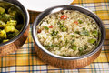 Vegetable pilau rice or indian dish Royalty Free Stock Image