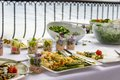 Vegetable platter at a hotel buffet Royalty Free Stock Photo