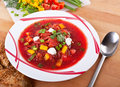 Vegetable red-beet soup Royalty Free Stock Photo