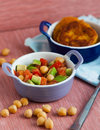 Vegetable Salad with chick-pea Stock Photo