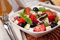 Vegetable salad with feta cheese Stock Photo