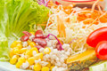 Vegetable salad image mixed fruits Stock Images