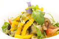 Vegetable salad on a plate in a restaurant Stock Photo