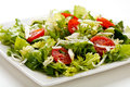 Vegetable salad on white plate Stock Photography