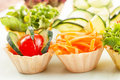 Vegetable salad on wooden background Royalty Free Stock Photography