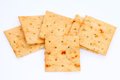 Vegetable salty crackers Royalty Free Stock Image