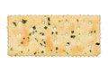 Vegetable salty crackers isolated on white background Stock Photos