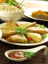Vegetable samosas Stock Photography