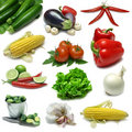Vegetable Sampler Stock Photos