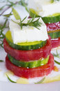 Vegetable sandwich with savory close up image Royalty Free Stock Photography