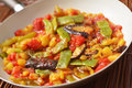 Vegetable saute turkish in a pan Royalty Free Stock Images