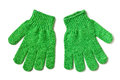 Vegetable scrubbing gloves Stock Photos