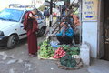 Vegetable seller at a market in kankra valley h p Stock Photography