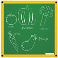 Vegetable sketch Stock Image