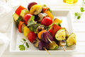 Vegetable Skewers (ratatouille) Royalty Free Stock Photo