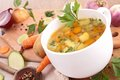 Vegetable soup close up on Royalty Free Stock Image