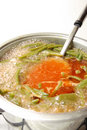 Vegetable soup with green beans Royalty Free Stock Image