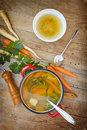 Vegetable soup is a healthy meal Stock Images