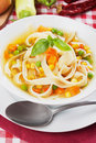 Vegetable soup with noodles Stock Image
