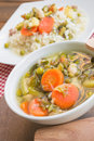 Vegetable soup with rice Royalty Free Stock Photo