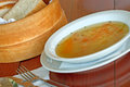 Vegetable soup on a table Royalty Free Stock Photography