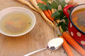 Vegetable soup vegetarian broth minestrone Stock Image