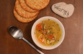 Vegetable soup and warmth bowl of for comfort food Stock Photography