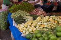 Vegetable stand in the market Stock Image