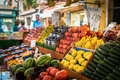 Vegetable stand at traditional market in Venice Royalty Free Stock Photography