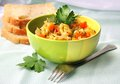 Vegetable stew in a bowl Stock Image