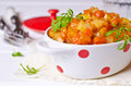 Vegetable stew with sauce Royalty Free Stock Photo
