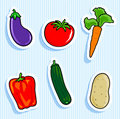 Vegetable Stickers Stock Photos