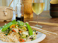 Vegetable Stir Fry With Brown Rice Royalty Free Stock Photo
