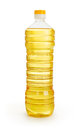 Vegetable or sunflower oil in plastic bottle Royalty Free Stock Photo