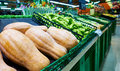 Vegetable in supermarket fresh on stand on sale Royalty Free Stock Image