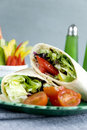 Vegetable wraps Royalty Free Stock Photography