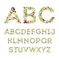 Vegetables alphabet set colorful letters from decoration concept for books menus shops Stock Images