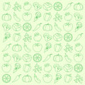 Vegetables background from a vector illustration Stock Photo