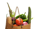 Vegetables bag Royalty Free Stock Photos