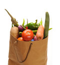 Vegetables bag Royalty Free Stock Images
