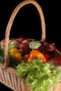 Vegetables in the basket Stock Photography