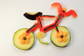Vegetables bicycle Royalty Free Stock Photo