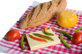 Vegetables, bread and chees Stock Image