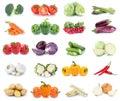 Vegetables carrots tomatoes cucumber onion bell pepper lettuce v Royalty Free Stock Photo
