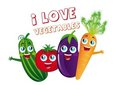 Vegetables cartoons Royalty Free Stock Image