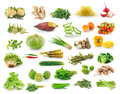 Vegetables collection isolated on white background Royalty Free Stock Photos