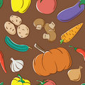 Vegetables color pattern Royalty Free Stock Images