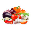 Vegetables Composition On White Background